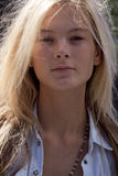 Fashion model Irina Kulikova beauty portrait in New York Stock Image