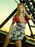 Fashion Model Iron Sunset Royalty Free Stock Images