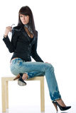 Fashion model isolated Stock Photography