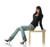 Fashion model isolated Royalty Free Stock Photo