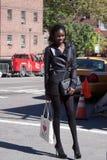 Fashion model Jeneil Williams stye stock image