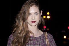 Fashion model Karmen Pedaru beauty portrait in New York Stock Images