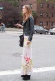 Fashion model Karmen Pedaru in New York Stock Images