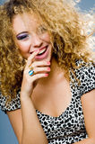 Fashion Model Laughing stock photography