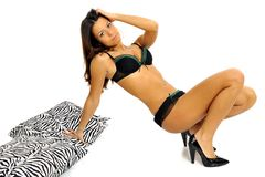 Fashion model in lingerie Royalty Free Stock Photo