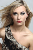 Fashion model with long blond hair. Stock Images