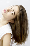 Fashion model with long blond hair Royalty Free Stock Photo