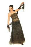 Fashion model in long dress Stock Image