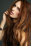 Fashion Model. Model with long red hair Royalty Free Stock Image