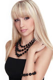 Fashion model with long straight hair Royalty Free Stock Photos