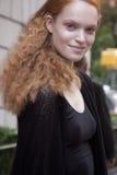 Fashion model Luisa Bianchin beauty portrait in New York Royalty Free Stock Photo