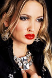 Fashion model with luxury jewelry Royalty Free Stock Image
