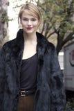 Fashion model Martha Streck beauty portrait in New York Royalty Free Stock Photo
