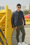 Fashion model, men, jacket. Fashion model, men, wearing jacket, spring and summer look Royalty Free Stock Image