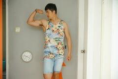 Fashion model, men, singlet Stock Photography
