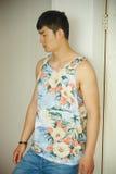 Fashion model, men, singlet Royalty Free Stock Photo
