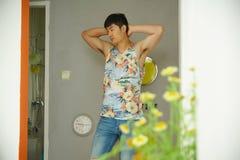 Fashion model, men, singlet Stock Photo