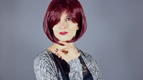 Fashion Model With New Hairstyle or Red Hair Color stock video footage