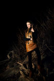 Fashion model in night. Stock Photography