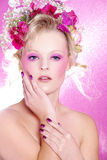 Fashion model in pink style Royalty Free Stock Photography