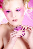 Fashion model in pink style Royalty Free Stock Images