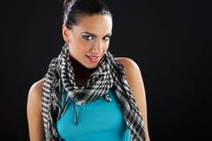 Fashion model portrait. Portrait of a cute brunette girl Royalty Free Stock Photography