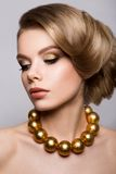 Fashion Model Portrait. Hairstyle. Haircut Royalty Free Stock Photography