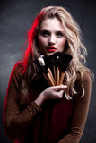 Fashion Model Portrait. Makeup. Hairstyle Royalty Free Stock Photography
