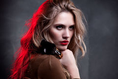 Fashion Model Portrait. Makeup. Hairstyle Royalty Free Stock Images