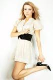 Fashion model Posed on light background Royalty Free Stock Photo
