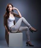 Fashion Model Posing Stock Photo