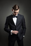Fashion model posing with business suit Stock Photo