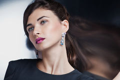 Fashion model posing in exclusive jewelry Royalty Free Stock Photography
