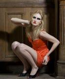 Fashion model posing indoors Royalty Free Stock Photo