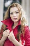 Fashion model posing in jacket Royalty Free Stock Image