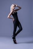 Fashion model posing in a studio Royalty Free Stock Photos