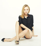 Fashion model posing in studio Stock Photography