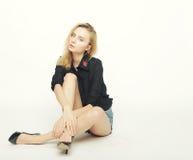 Fashion model posing in studio Stock Image