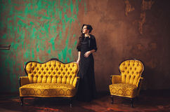 Fashion model posing in the studio Royalty Free Stock Image
