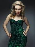 Fashion model posing in studio Stock Images