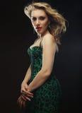 Fashion model posing in studio Royalty Free Stock Photos