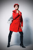 Fashion model in red Stock Image