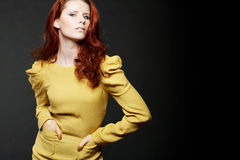 Fashion model with red hair. Stock Photography