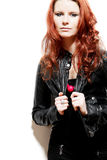 Fashion model with red hair. Stock Image