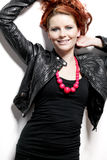 Fashion model with red hair. Royalty Free Stock Photography
