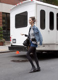 Fashion model Ruby Aldridge portrait in New York Royalty Free Stock Photography