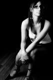 Fashion model - secretary Royalty Free Stock Image