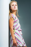 Fashion model in casual clothing Stock Photos