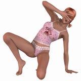 Fashion model in sexy underwear Stock Photo