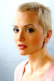 fashion model with short hair Stock Photo